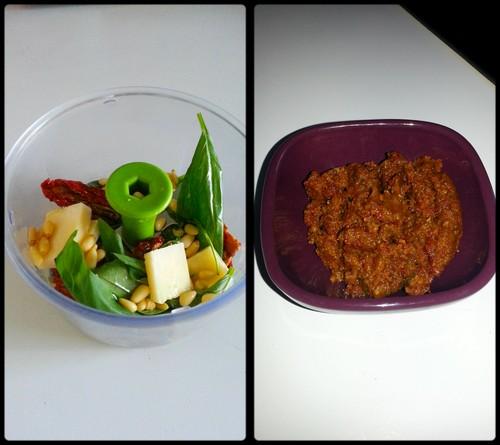 Photos et recettes des défis culinaires Pesto